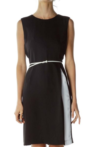 Black Soft Sheath Dress