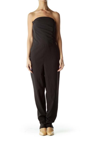 Black Strapless 7/8 Jumpsuit