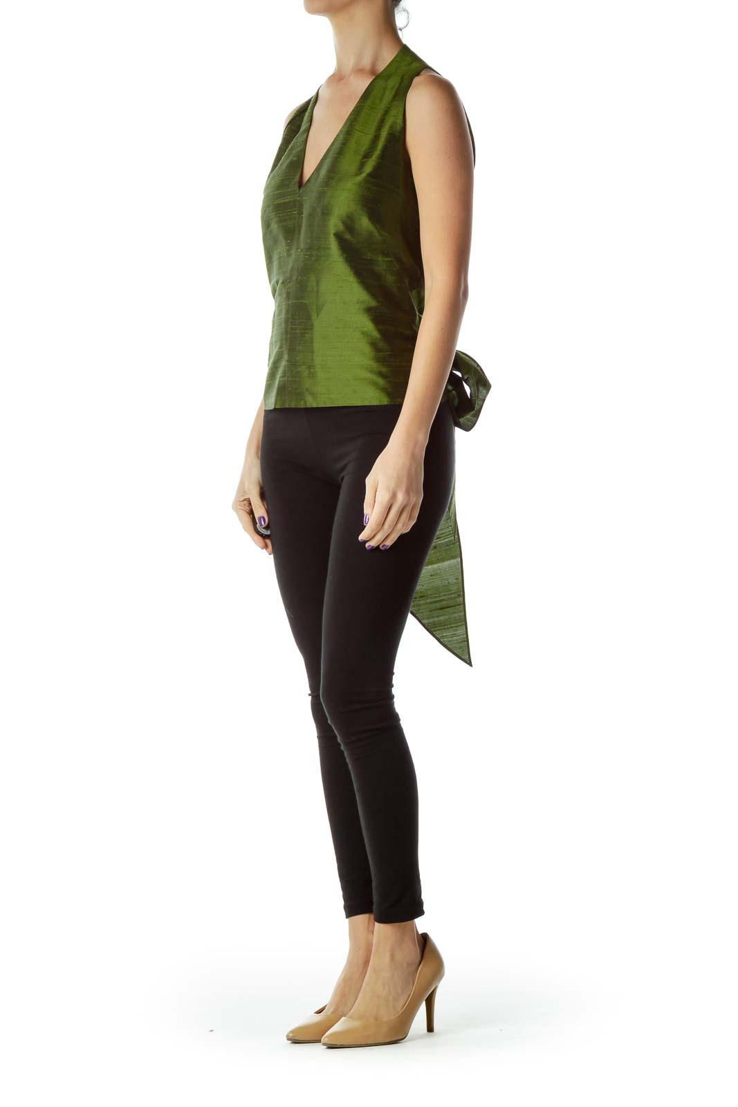 0b46117eb8efa Wristwatch by Versace. Wristwatch by Versace. Next. Lafayette 148 New York. Green  Silk V-Neck Bow Blouse