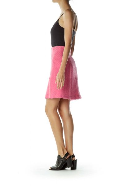 Pink Tweed Pencil Skirt