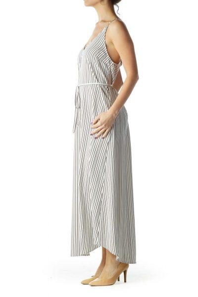 Black Cream Stripe Maxi Dress