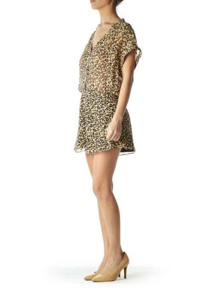 Leopard Print Sheer Romper