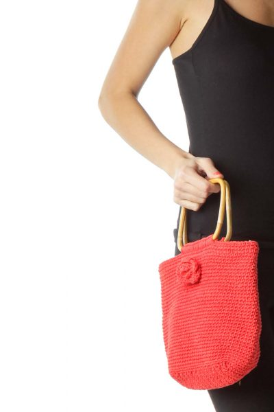 Red Crocheted Clutch