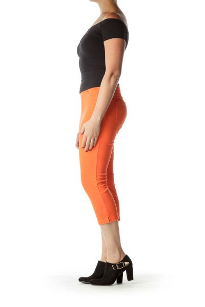 Orange Jegging Capri