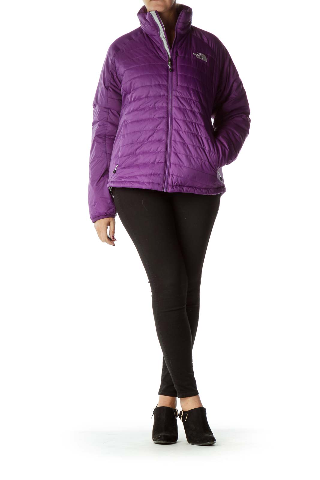 Purple PrimaLoft Padded Coat