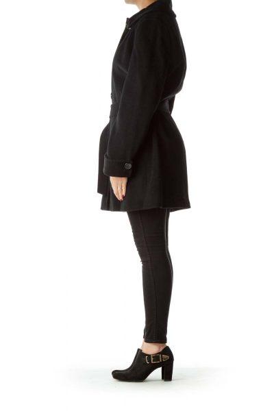 Black Wool & Angora Trench Coat