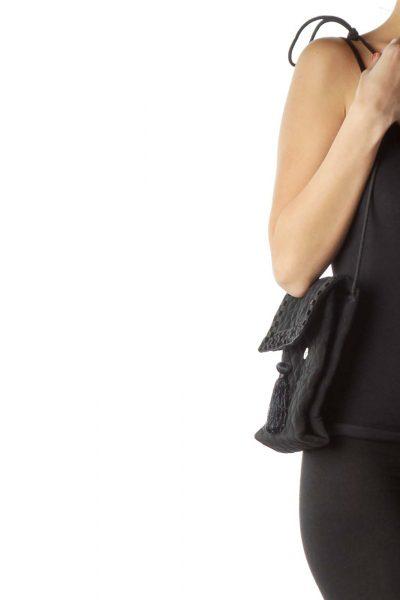 Black Quilted Mini Shoulder Bag