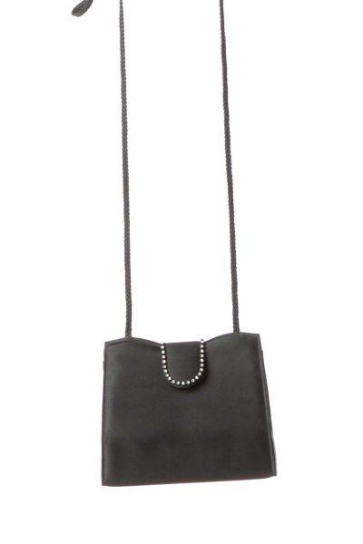 Black Jeweled Mini Shoulder Bag