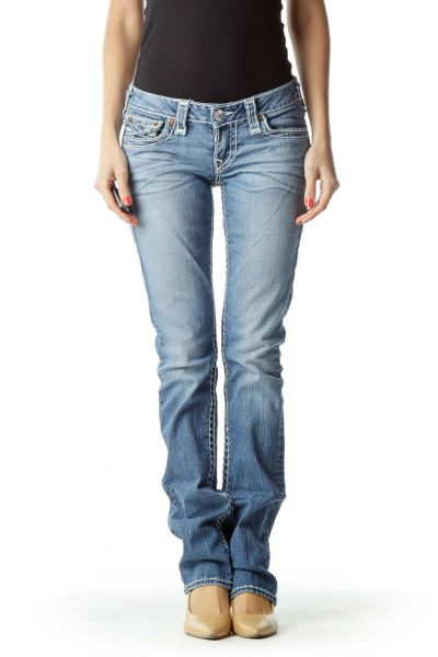 Straight-Leg Jean with Large Trim