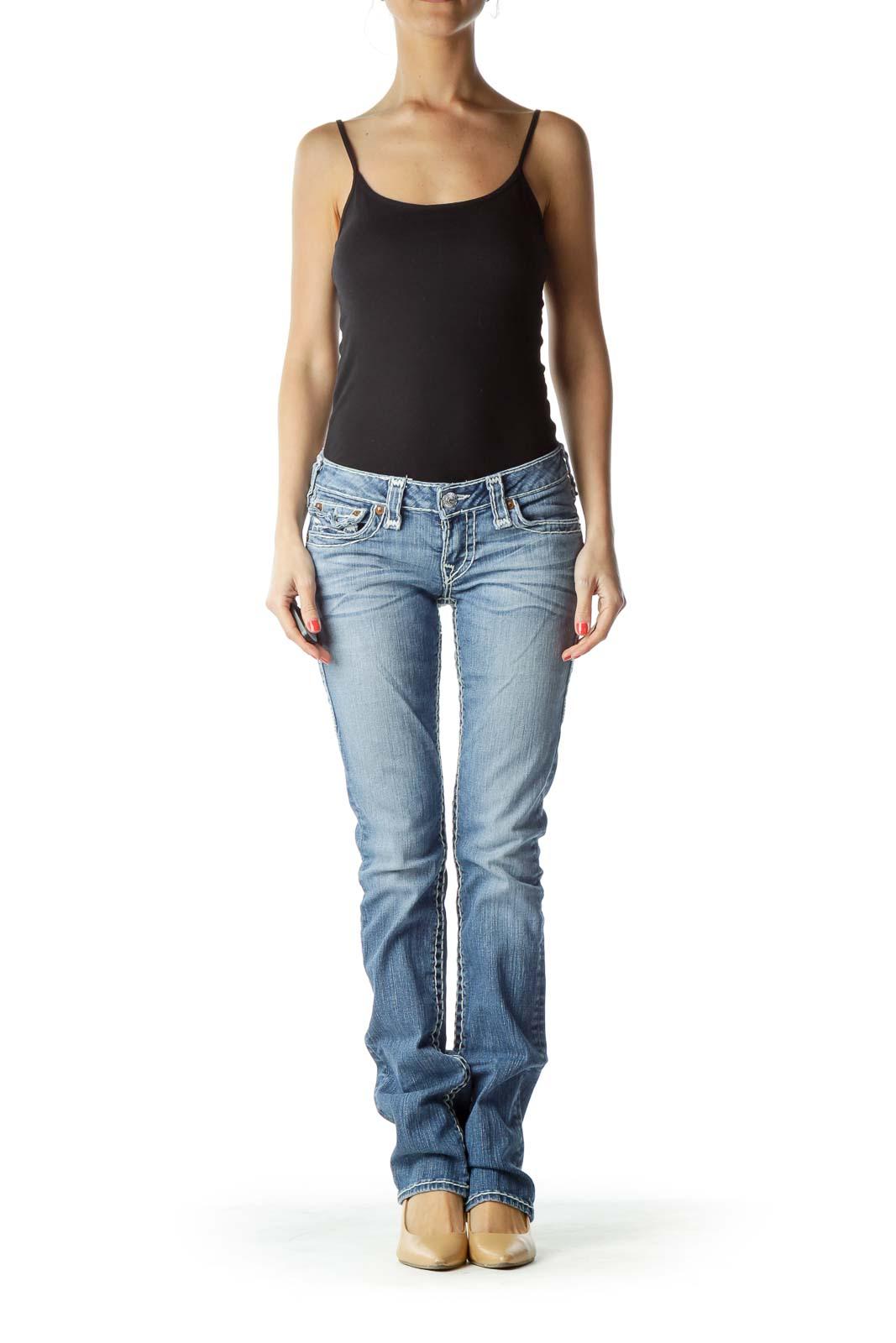 Straight-Leg Jean with Large Trim