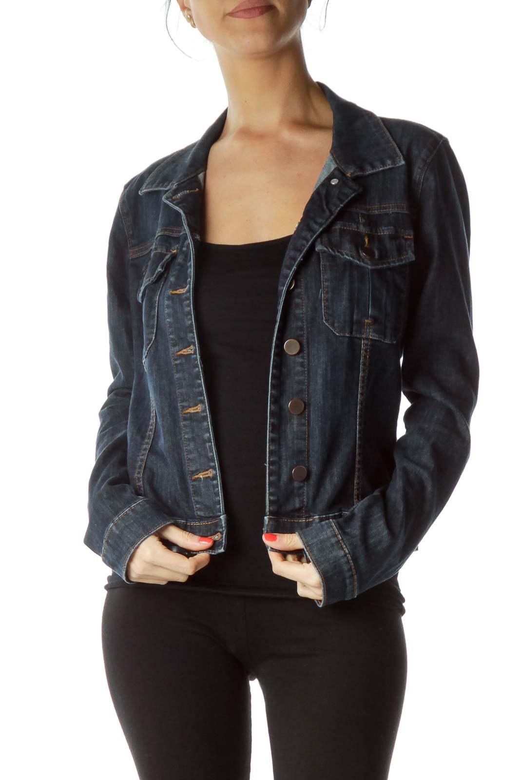 Blue Denim Pocketed Jacket