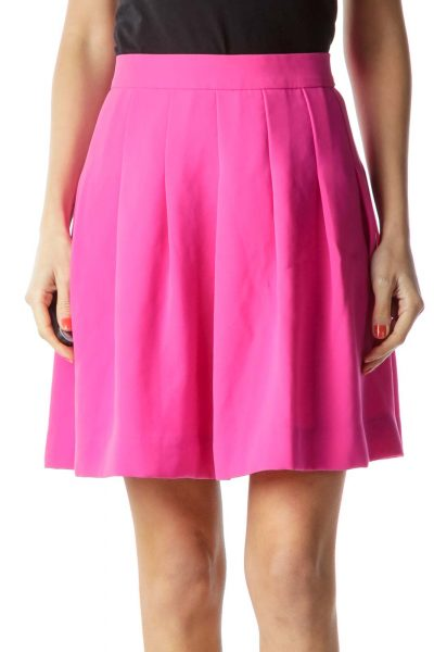 Pink A-Line Mini Skirt