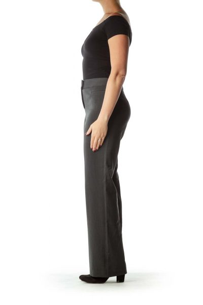Gray Wide Leg Work Pant