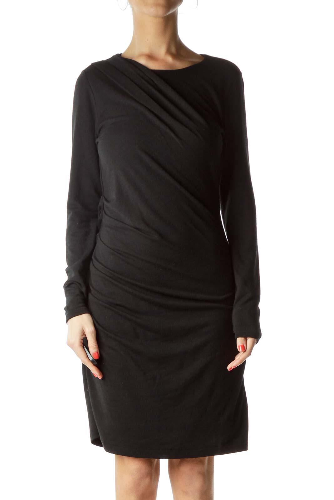 Black Midi Knit Dress