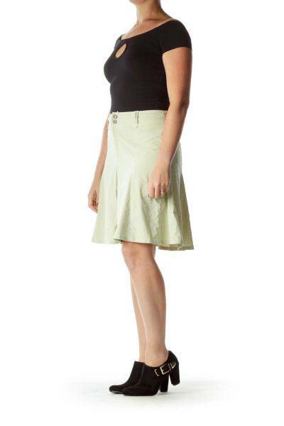 Green Flared Walking Skirt