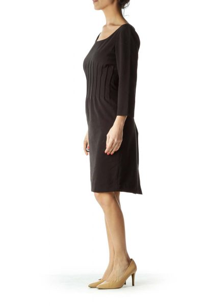 Black 3/4 Sleeve Work Dress