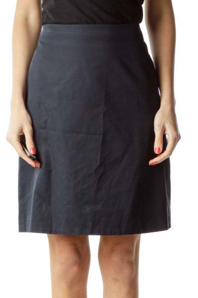 Navy Flared Mini Skirt