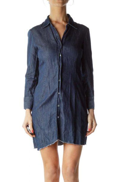 Blue Denim Shirt Dress