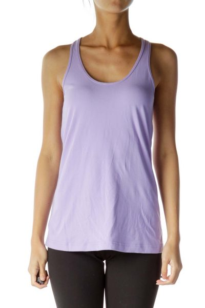 Purple Fitted Yoga Top