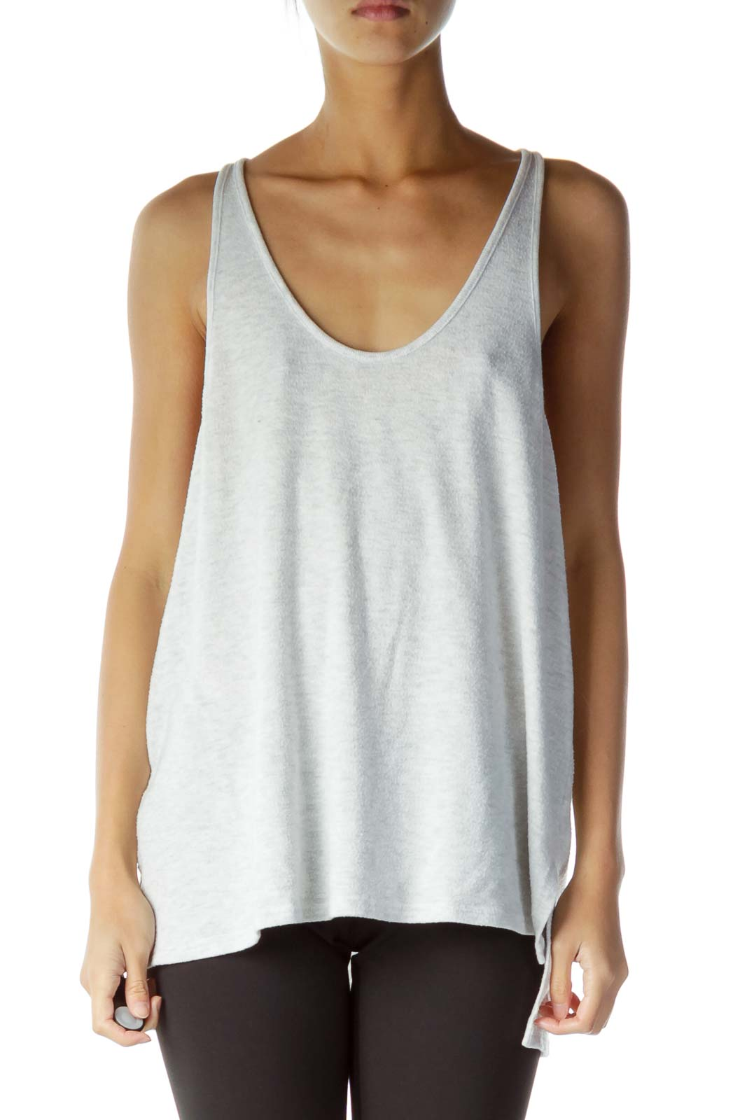 Gray Knitted Tank Top
