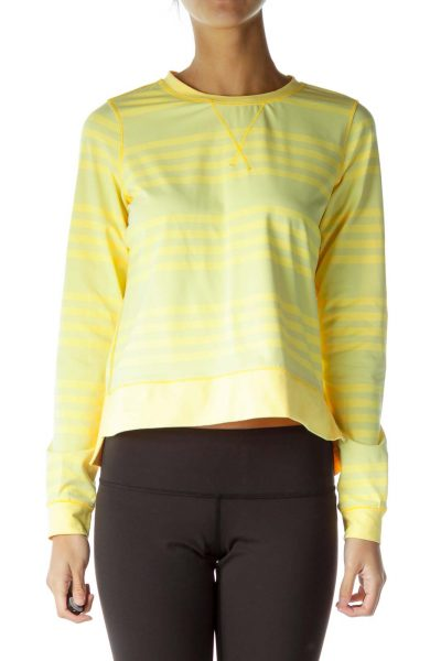 Yellow Green Stretchy Long Sleeve Top