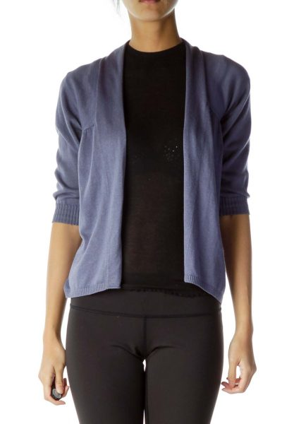 Purple Back-Scrunched Cardigan