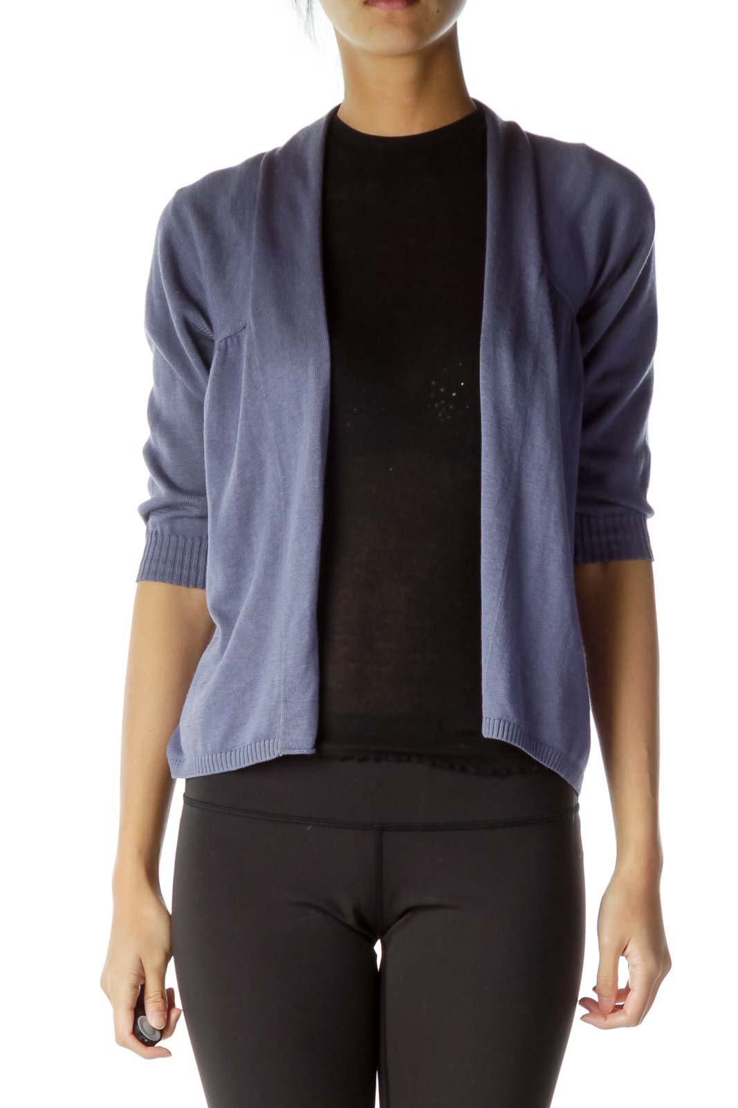 Purple Back-Scrunched Cardigan