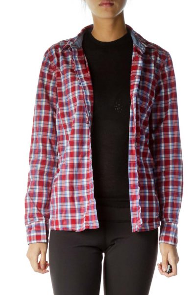 Red White Checked Shirt