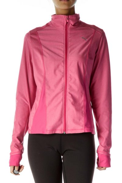 Pink Zipper Athletic Jacket