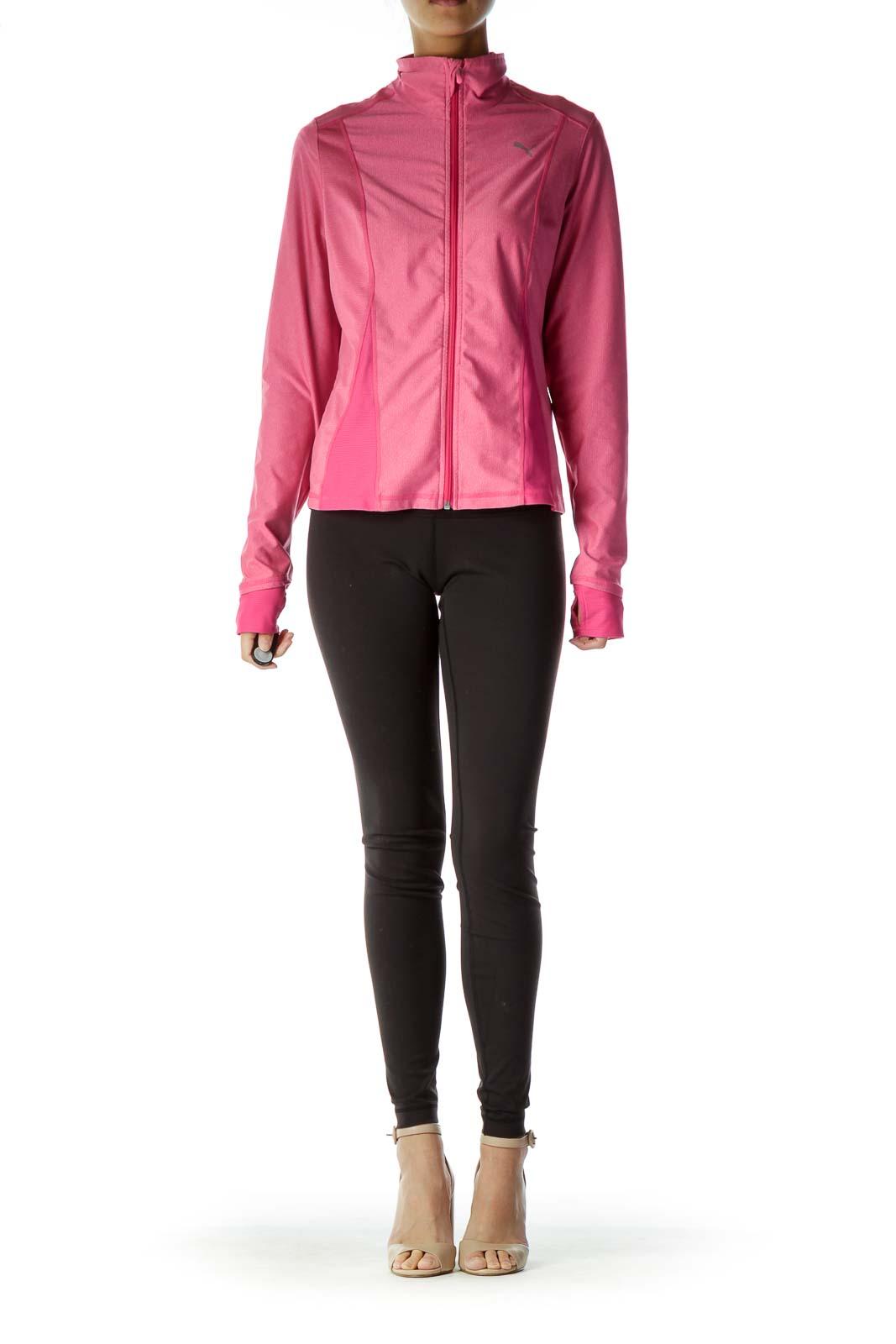 Pink Zipper Athletic Jacket