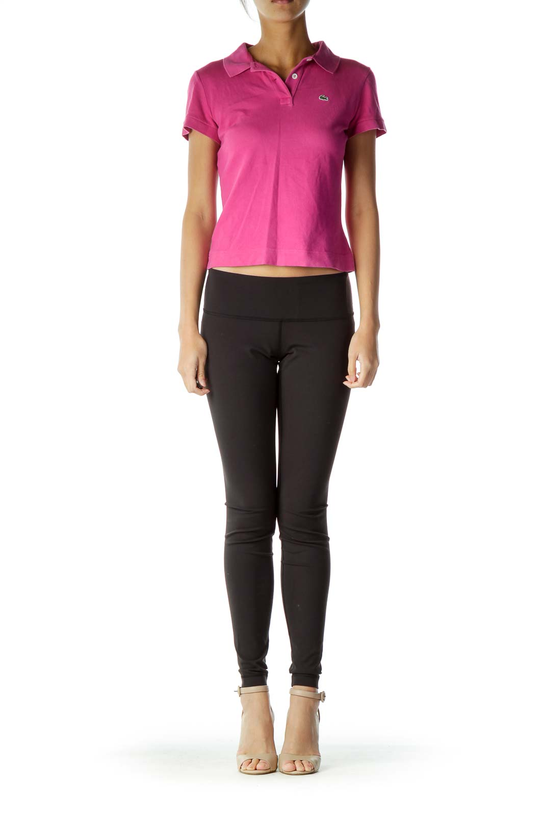 Pink Collared Polo T-Shirt