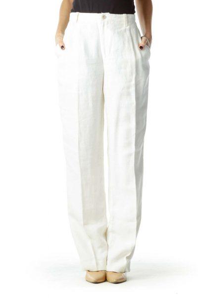 Cream Linen Pant