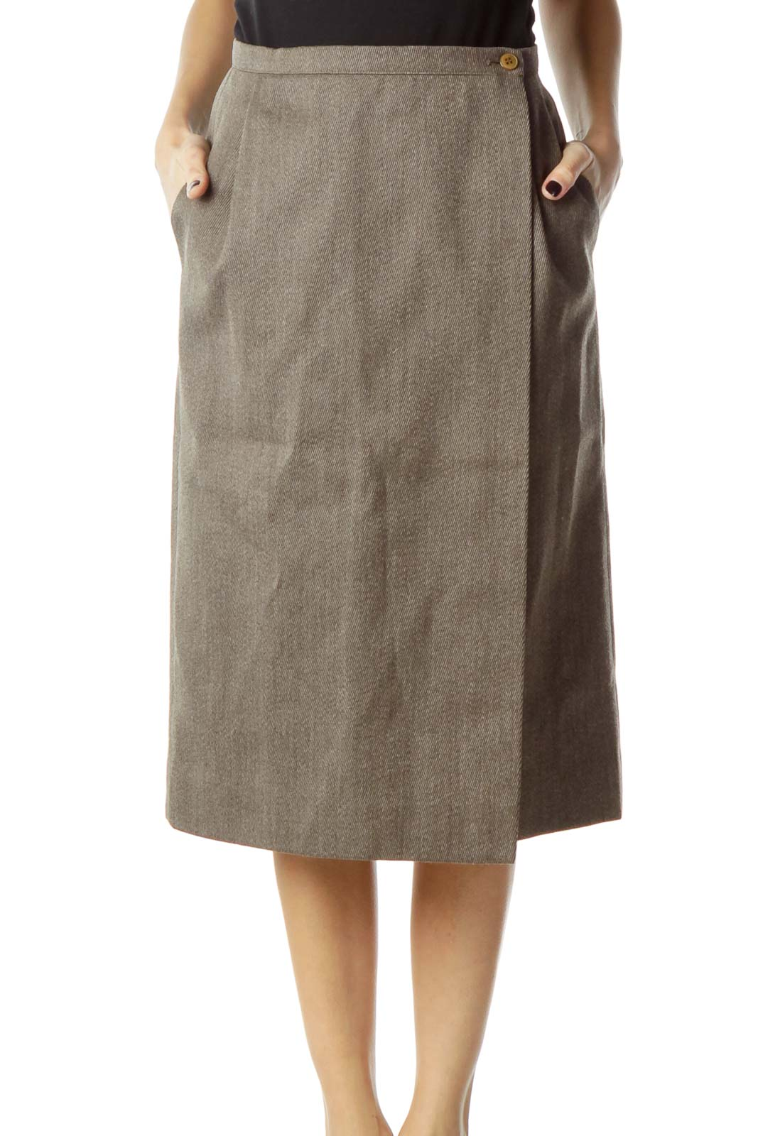 b0d19e817 Shop Brown Wool Pencil Skirt clothing and handbags at SilkRoll ...
