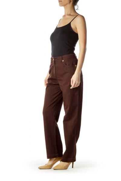 Brown Straight Leg Pants