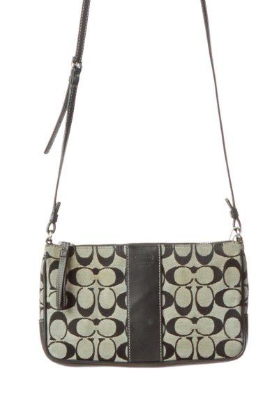 Black Gray Monogrammed Crossbody Bag