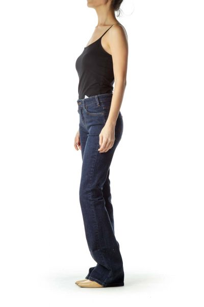 Dark Blue Flared Jean