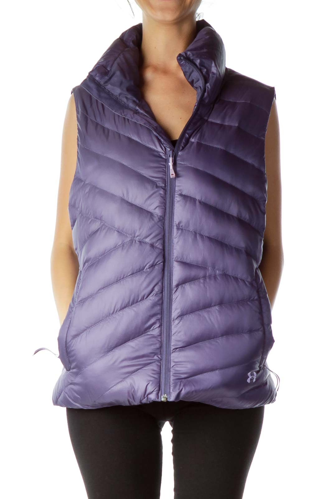 Purple Down Zippered Vest