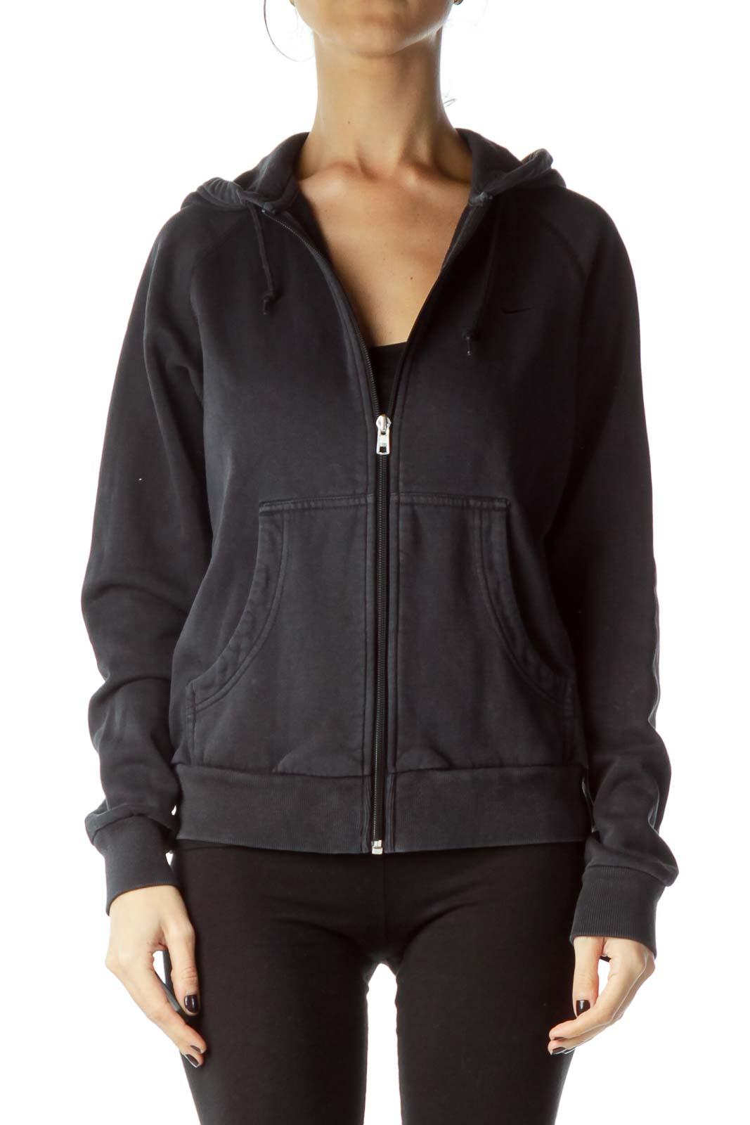 Black Zippered Hoodie