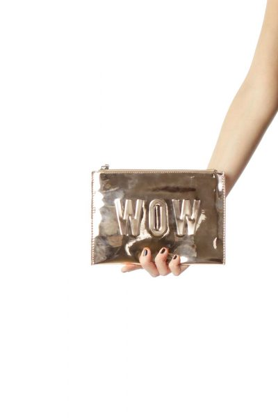 Rose Gold Clutch with Strap