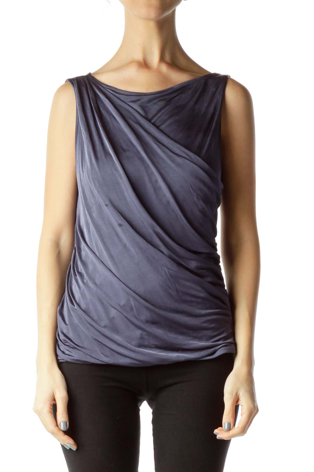 Purple Ruched Tank