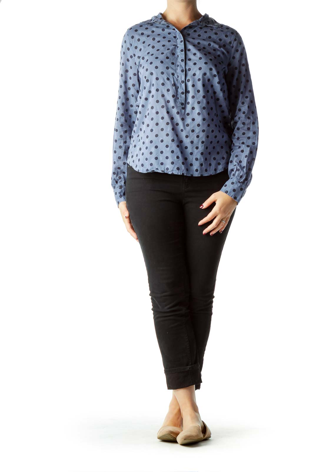 Blue Polka-Dot Shirt