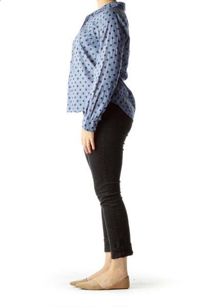 Blue Polka-Dot Shirt