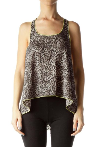 Gray Animal Print Cami