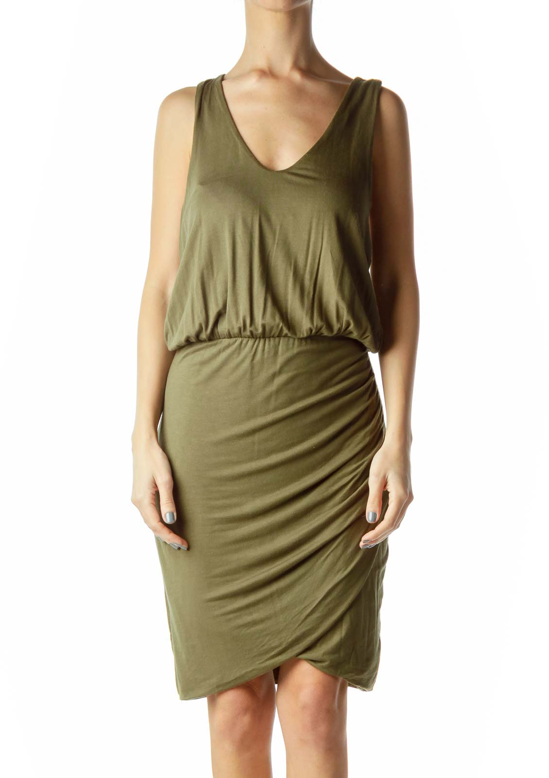 Green Racerback Jersey Dress