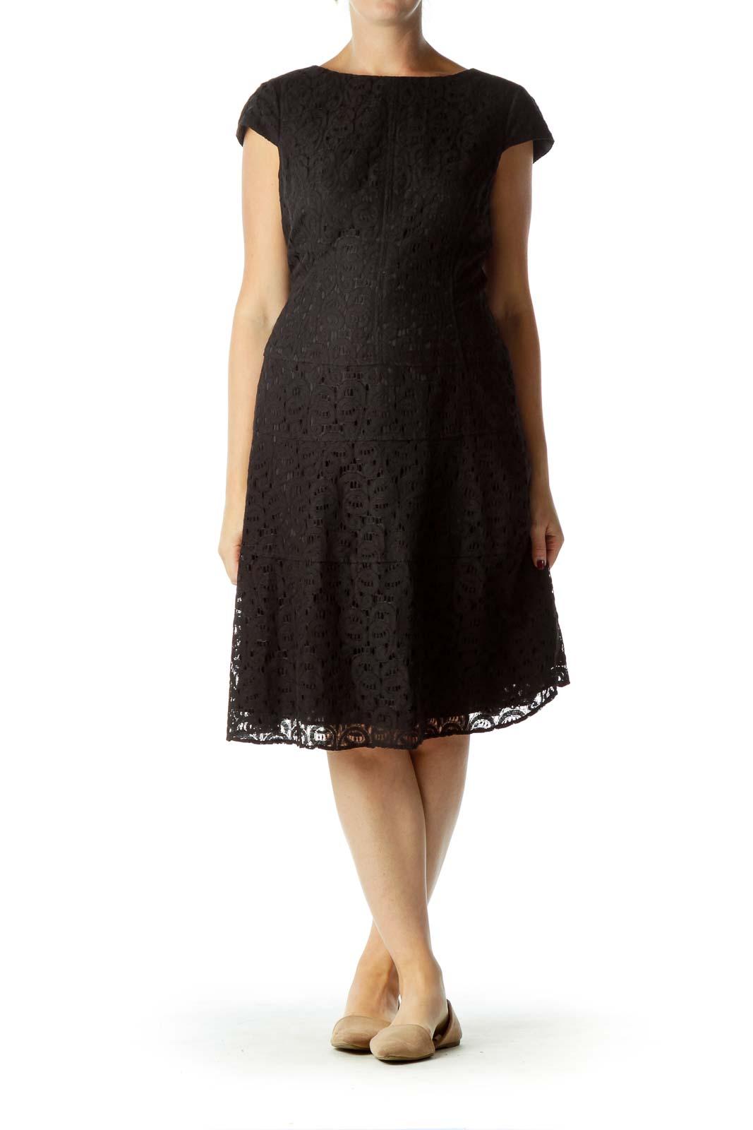 Black Lace Sheath Dress
