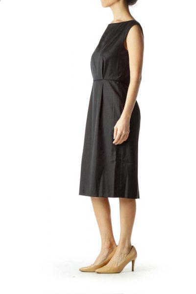 Black Wool Sheath Dress