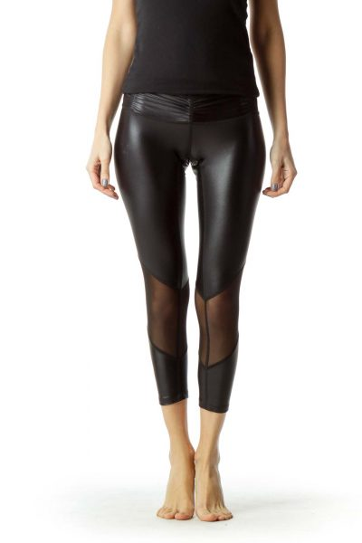 Black Sheer Cropped Leggings