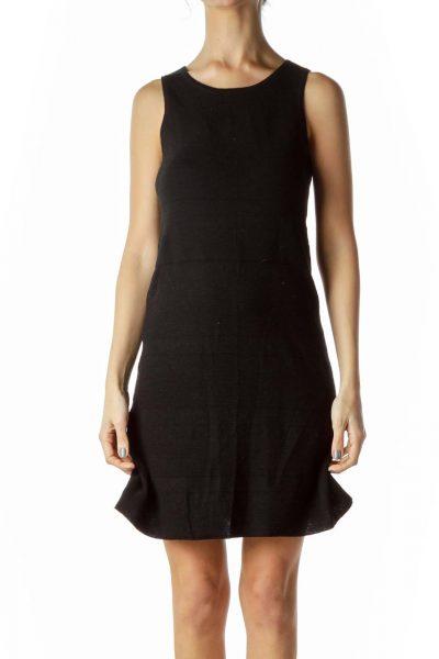 Black Stripe Knit Dress