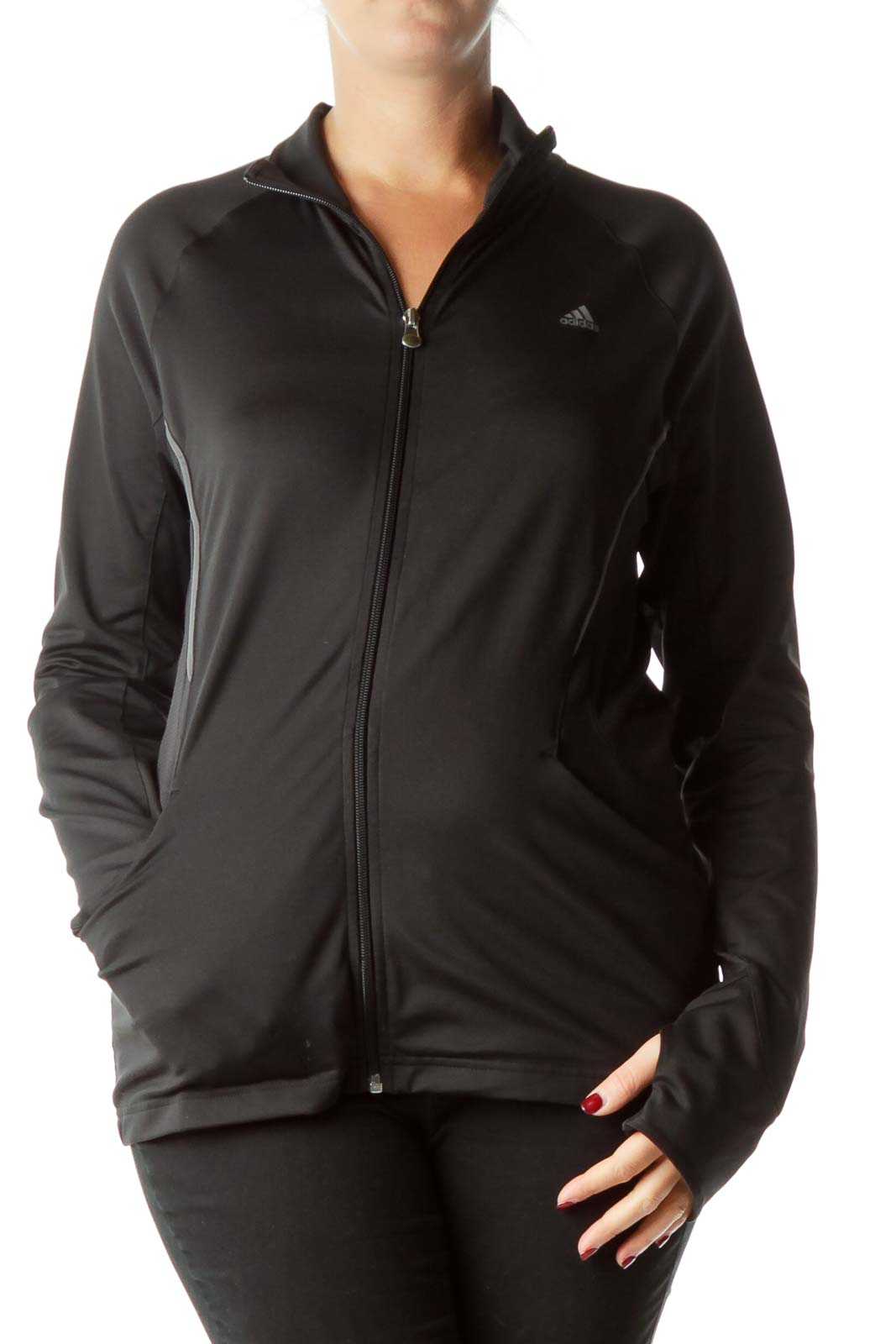 Black Full-Zip Climalite Active Top