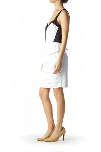 White Black Bodycon Dress